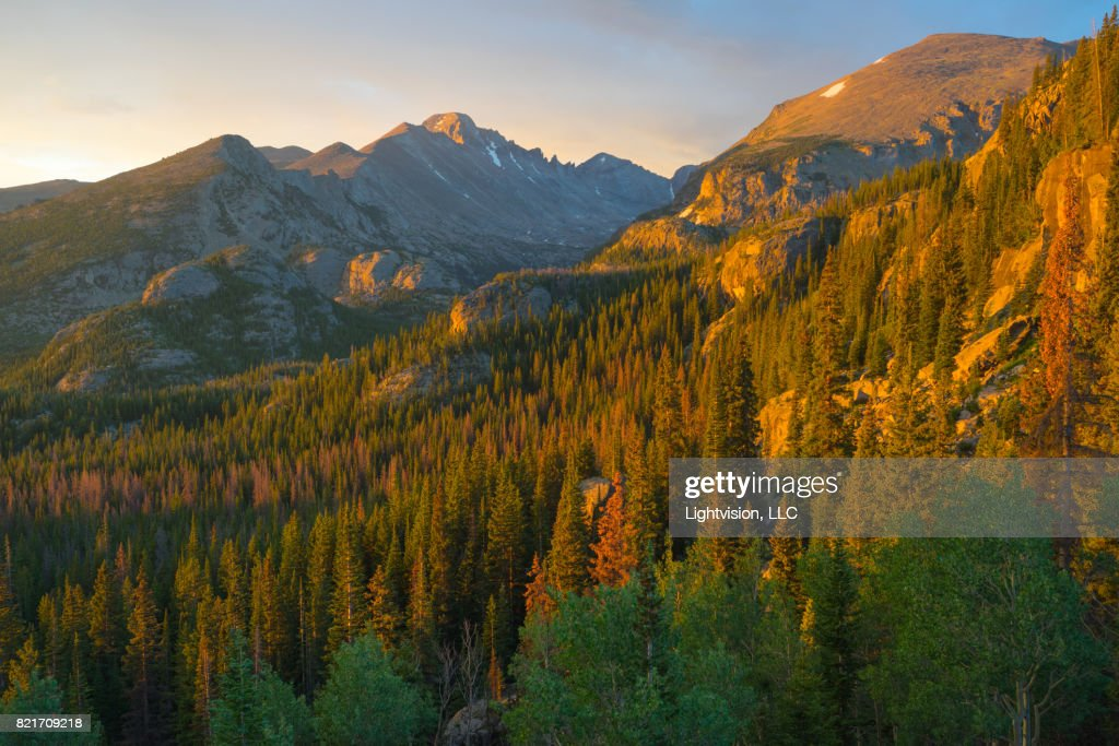 Longs Peak, Rocky Mountain National Park : Stock Photo