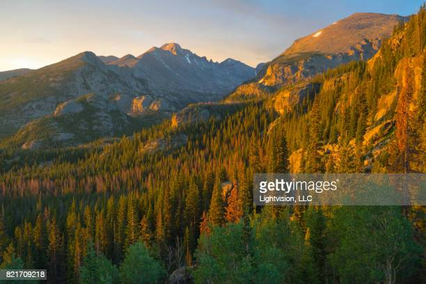 longs peak, rocky mountain national park - aspen colorado stock photos and pictures