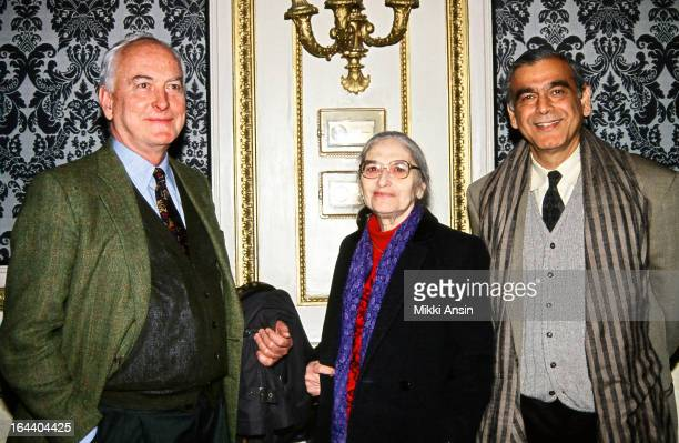 Longstanding filmmaking team director James Ivory novelist and screenwriter Ruth Prawer Jhabvala and producer Ismail Merchant at a function given in...