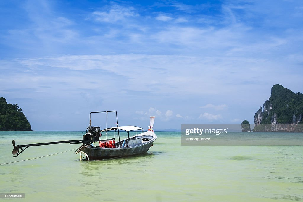 longtail boat koh phi pi island thailand : Stock Photo
