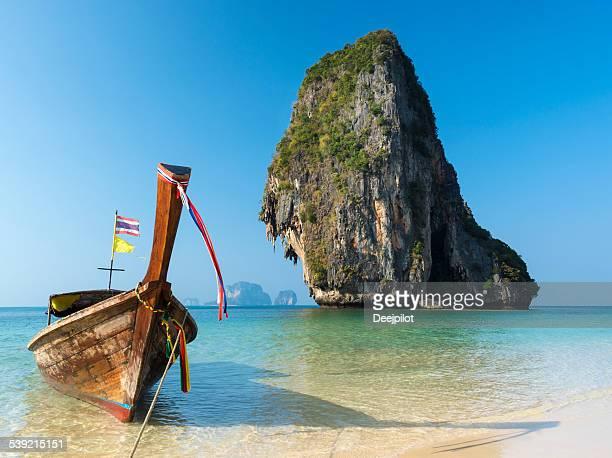 Longtail Boat on Railay Beach Thailand