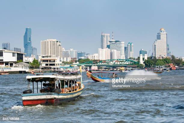 Longtail Boats Bangkok River