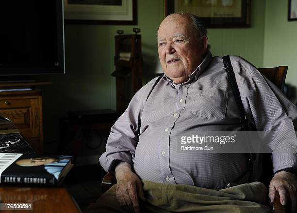 Long-time Baltimore Sun columnist Jack Germond is shown at his home in Charles Town, West Virginia, in 2012. Germond died on Wednesday, August 14 at...