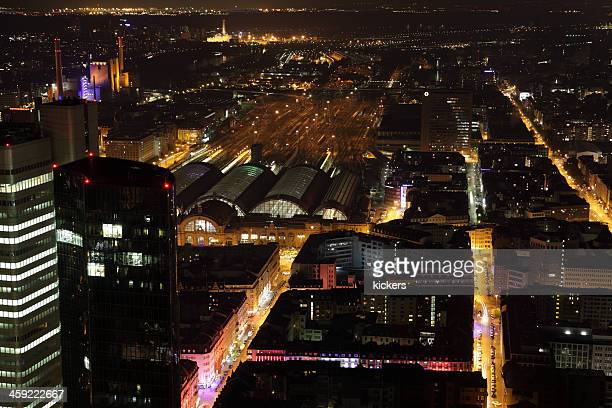 longtime exposure of frankfurt city - frankfurt red light district stock pictures, royalty-free photos & images