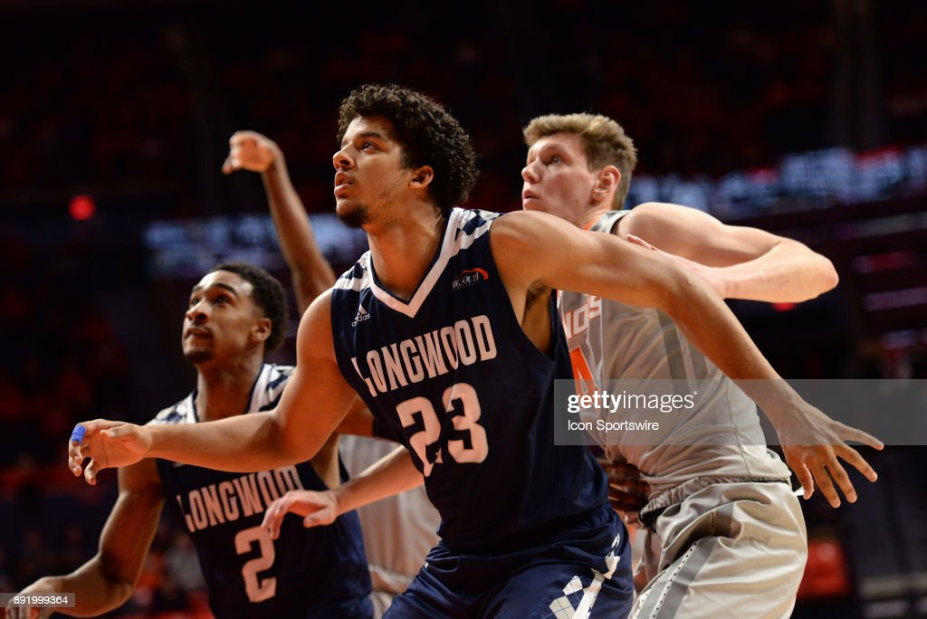 buy popular bff2b 04e9b Longwood Lancers Forward Boaz Williams boxes out Illinois ...