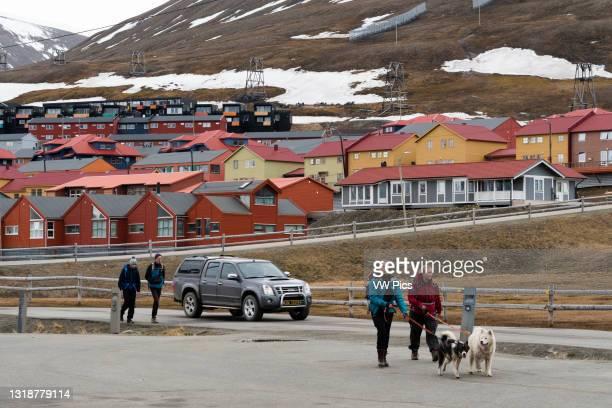 Longyearbyen, Spitsbergen, Svalbard Islands, Norway..