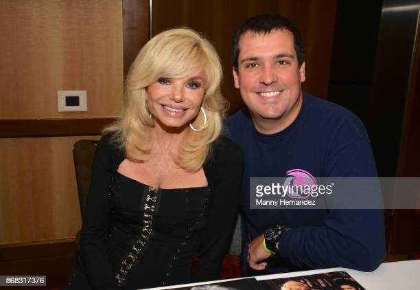 Loni Anderson and her son Quinton Anderson Reynolds at the Spooky Empire Horror Convention at the Hyatt Regency on October 28 2017 in Orlando Florida