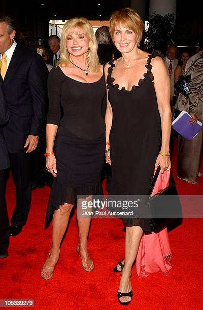 Loni Anderson and Joanna Cassidy during Petersen Automotive Museum 10Year Anniversary Gala at Petersen Museum in Los Angeles California United States