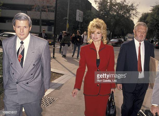 Loni Anderson and lawyers during Burt Reynolds Court Appearance for Anderson vs Reynolds Custody Case at Superior Courthouse in Van Nuys California...