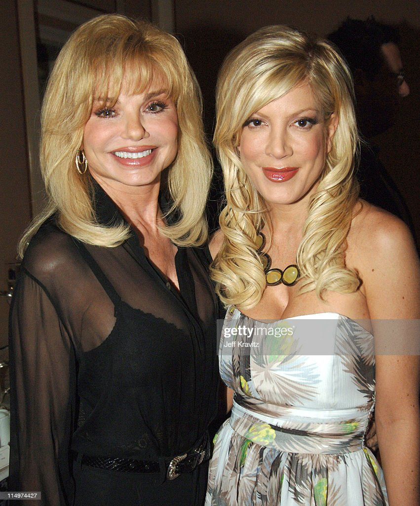 Loni Anderson and Tori Spelling during 2006 TCA MTV Networks - Green Room at Ritz Carlton Hotel, Pavilion Room in Pasadena, California, United States.