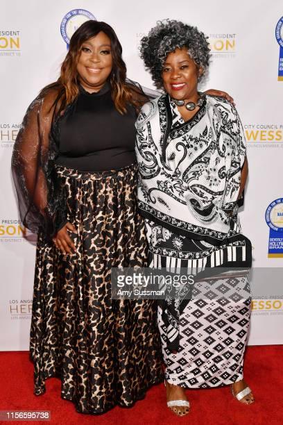 Loni Love and Loretta Devine attend the 28th Annual NAACP Theatre Awards at Millennium Biltmore Hotel on June 17, 2019 in Los Angeles, California.