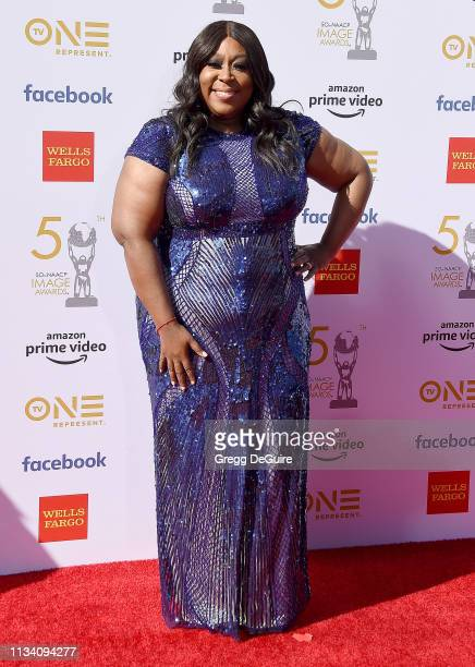 Loni Love arrives at the 50th NAACP Image Awards at Dolby Theatre on March 30 2019 in Hollywood California