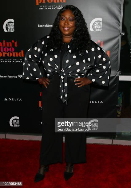 Loni Love attends the Opening Night of 'Ain't Too Proud The Life And Times Of The Temptations' at the Ahmanson Theatre on August 24 2018 in Los...