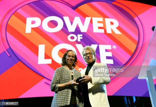 Lonnie Ali and Siegfried Fischbacher appear onstage during the 23rd annual Keep Memory Alive 'Power of Love Gala' benefit for the Cleveland Clinic...