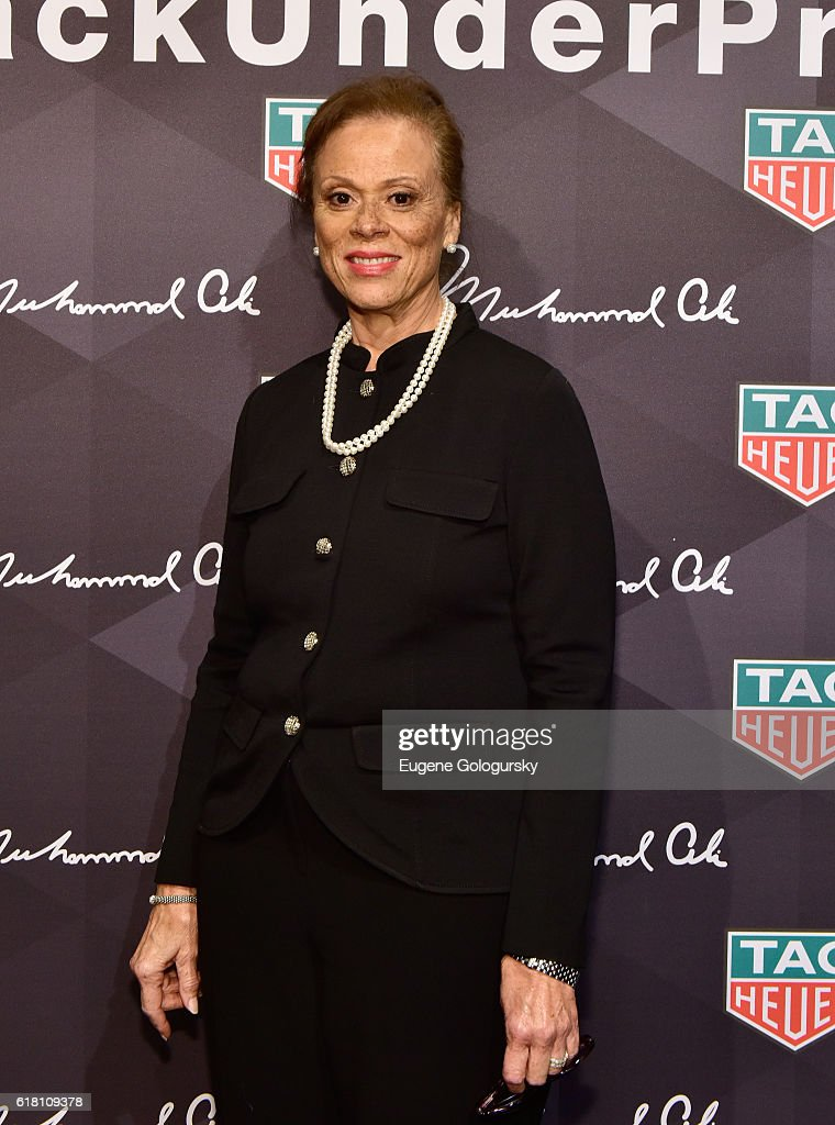 Lonnie Ali attends the Muhammad Ali tribute event at Gleason's Gym on October 25, 2016 in New York City.