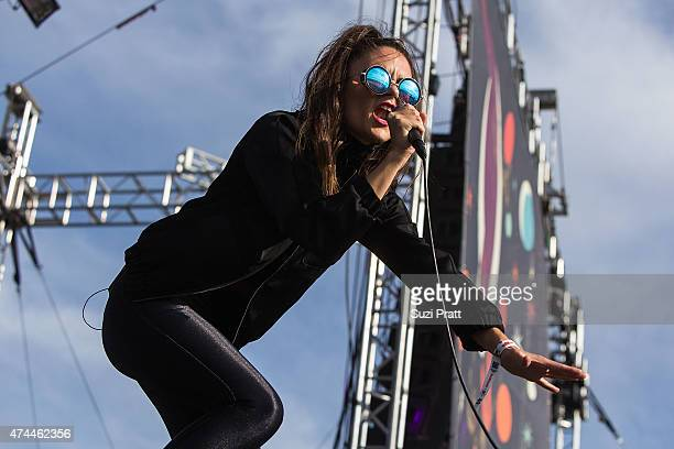 Lonnie Angle of CARDIKNOX performs at the Sasquatch Music Festival at The Gorge on May 22 2015 in George Washington