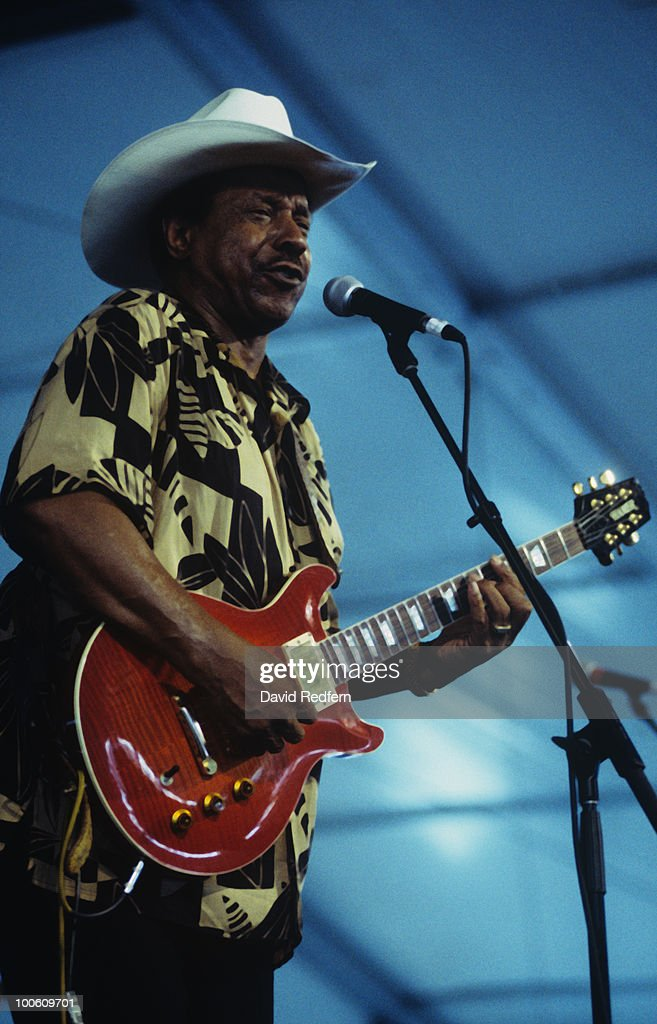 Lonnie Brooks performs on stage at the Newport Jazz Festival held in Newport, Rhode Island in August 2002.