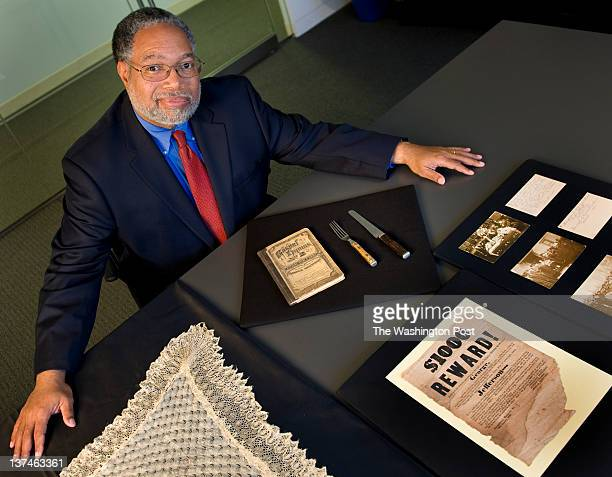 Lonnie Bunch Director of the National Museum of African American History and Culture with some recently curated artifacts in Washington DC on...