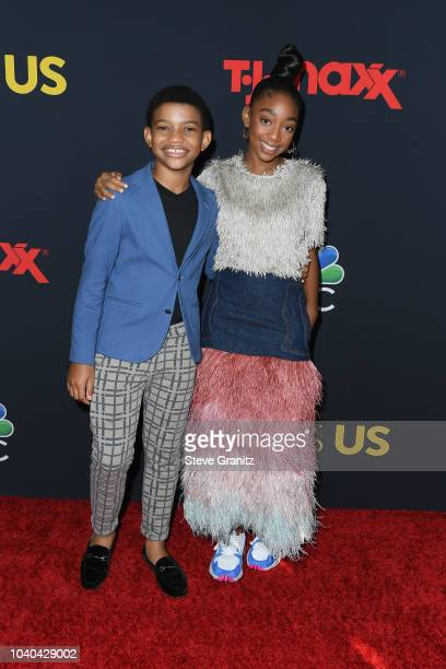 Lonnie Chavis and Eris Baker attend the Season 3 Premiere of NBC's This Is Us at Paramount Studios on September 25 2018 in Hollywood California