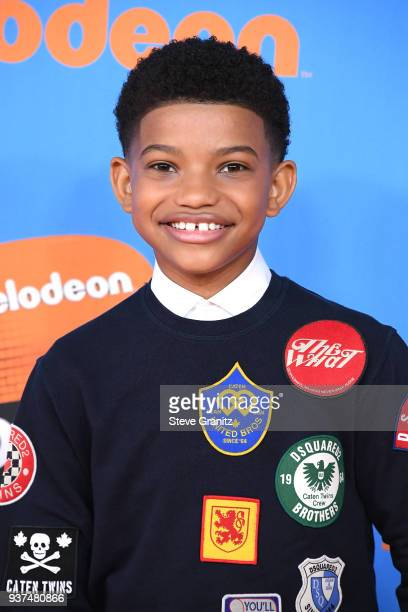 Lonnie Chavis attends Nickelodeon's 2018 Kids' Choice Awards at The Forum on March 24 2018 in Inglewood California