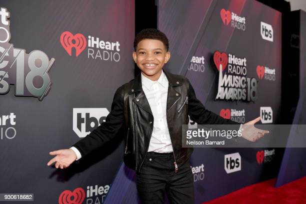 Lonnie Chavis attends the 2018 iHeartRadio Music Awards which broadcasted live on TBS TNT and truTV at The Forum on March 11 2018 in Inglewood...