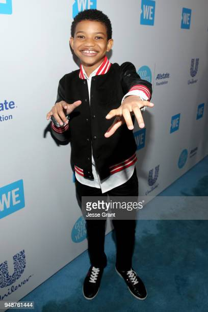 Lonnie Chavis attends WE Day California at The Forum on April 19 2018 in Inglewood California