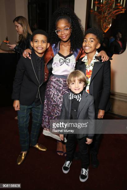 Lonnie Chavis Marsai Martin Miles Brown and Jeremy Maguire attend Entertainment Weekly's Screen Actors Guild Award Nominees Celebration sponsored by...