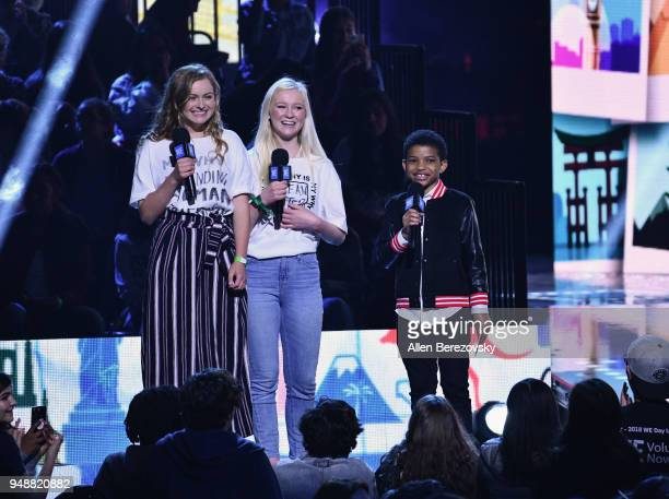 Lonnie Chavis speaks onstage at WE Day California at The Forum on April 19 2018 in Inglewood California