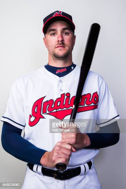 Lonnie Chisenhall of the Cleveland Indians poses for a portrait during Indians Photo Day at the Goodyear Sports Complex on February 24 2017 in...