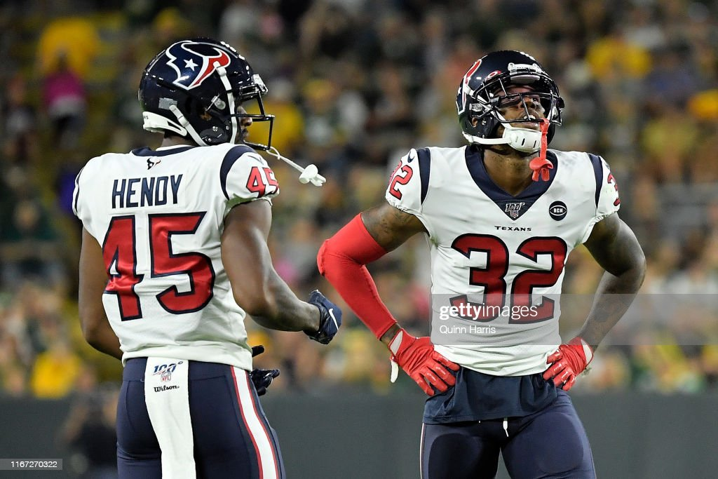 lowest price 86eca d0208 Lonnie Johnson Jr. #32 and A.J. Hendy of the Houston Texans ...