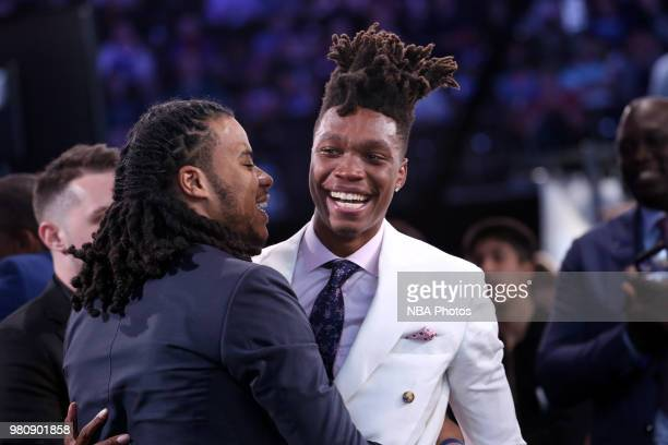 Lonnie Walker is selected eighteenth overall during the 2018 NBA Draft on June 21 2018 at Barclays Center in Brooklyn New York NOTE TO USER User...