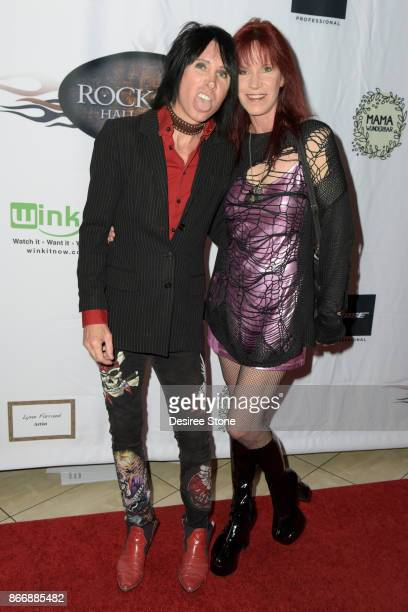 Lonny Paul and Jody Hamilton attend the 5th Annual Rock Godz Hall of Fame Awards at Hard Rock Cafe Hollywood on October 26 2017 in Hollywood...