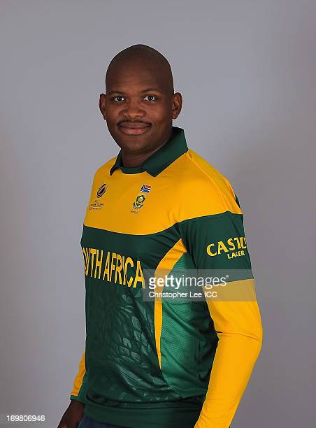 Lonwabo Tsotsobe during the South Africa Portrait Session at the Royal Gardens Hotel on June 2 2013 in London England