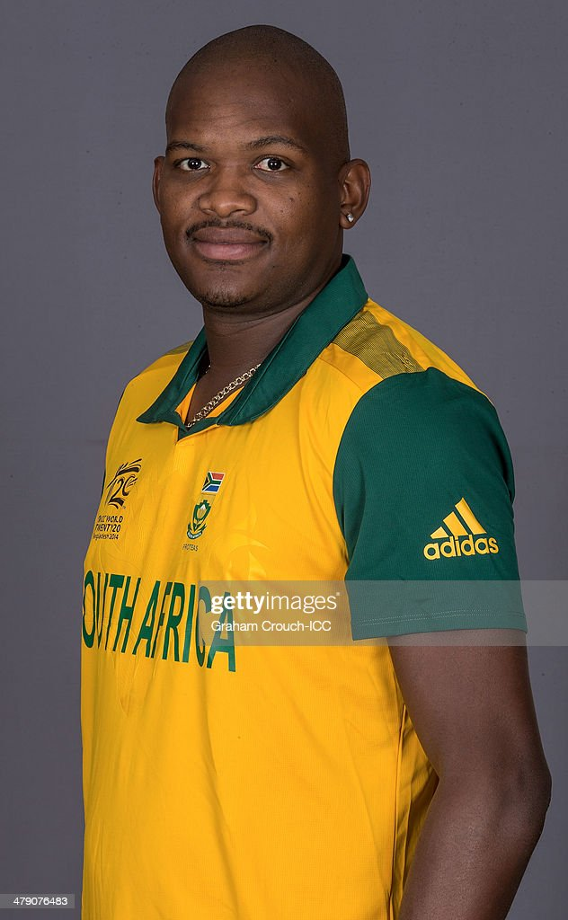 Lonwabo Tsotsobe of South Africa at the headshot session at the Pan Pacific Hotel, Dhaka in the lead up to the ICC World Twenty20 Bangladesh 2014 on March 16, 2014 in Dhaka, Bangladesh.
