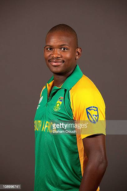 Lonwabo Tsotsobe of South Africa poses during a portrait session ahead of the 2011 ICC World Cup at the Sheraton Hotel and Towers on February 11 2011...