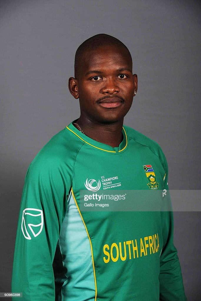 Lonwabo Tsotsobe of South Africa poses during an ICC Champions photocall session at Sandton Sun on September 19, 2009 in Sandton, South Africa.