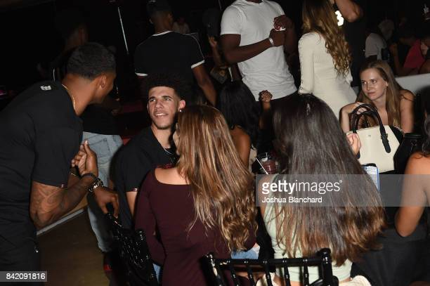 Lonzo Ball and guests attend Melo Ball's 16th Birthday on September 2 2017 in Chino California