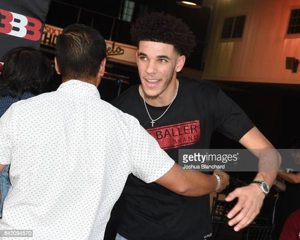 Lonzo Ball attends Melo Ball's 16th Birthday on September 2 2017 in Chino California