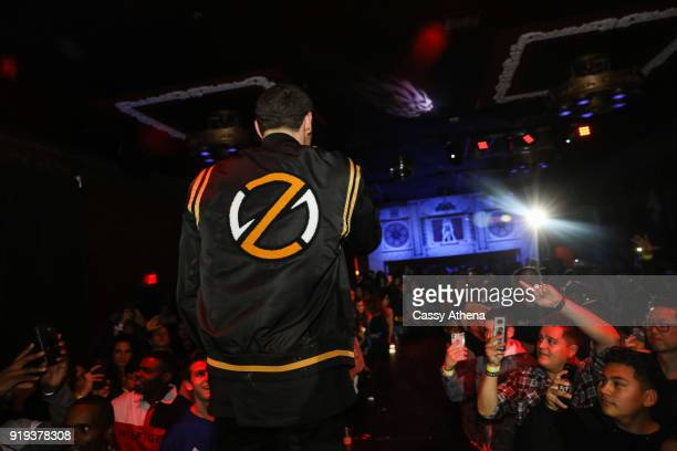 Lonzo Ball of the Los Angeles Lakers performs as the Big Baller Brand hosts a fashion show and the release of Lonzo Ball's 'Born 2 Ball' mixtape at...