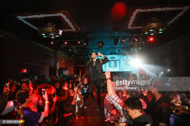 Lonzo Ball of the Los Angeles Lakers performs at the Big Baller Brand hosts a fashion show and the release of Lonzo Ball's 'Born 2 Ball' mixtape at...