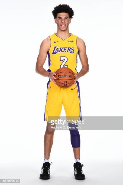 Lonzo Ball of the Los Angeles Lakers poses for a portrait during media day at UCLA Health Training Center on September 25 2017 in El Segundo...