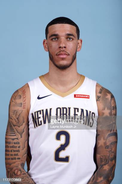 Lonzo Ball of the New Orleans Pelicans poses for a head shot during media day on September 30, 2019 at the Ochsner Sports Performance Center in New...