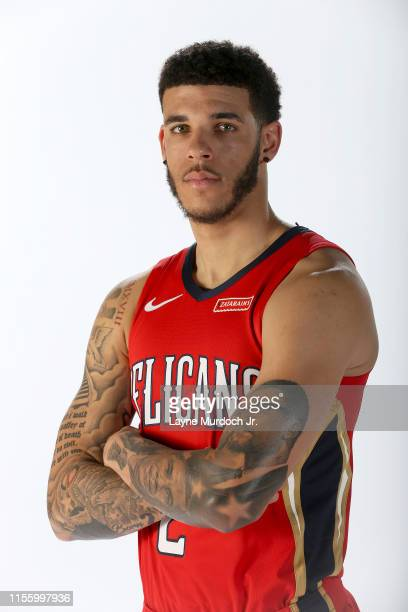 Lonzo Ball of the New Orleans Pelicans poses for a portrait on July 16, 2019 at Ochsner Sports Performance Center in Metairie, Louisiana. NOTE TO...