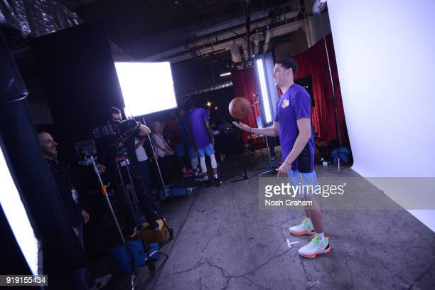 Lonzo Ball of the US Team poses for a portrait during the Mtn Dew Kickstart Rising Stars Game during AllStar Friday Night as part of 2018 NBA AllStar...