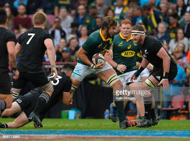 Lood de Jager of South Africa during the Rugby Championship 2017 match between South Africa and New Zealand at DHL Newlands on October 07 2017 in...