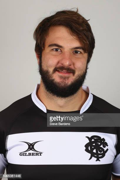 Lood de Jager of the Barbarians poses for a portrait during the Barbarians Squad Photocall at Hilton Park Lane on November 26 2018 in London England...
