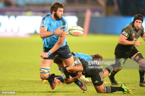 Lood de Jager of the Bulls during the Super Rugby match between Vodacom Bulls and Crusaders at Loftus Versfeld on May 06 2017 in Pretoria South Africa