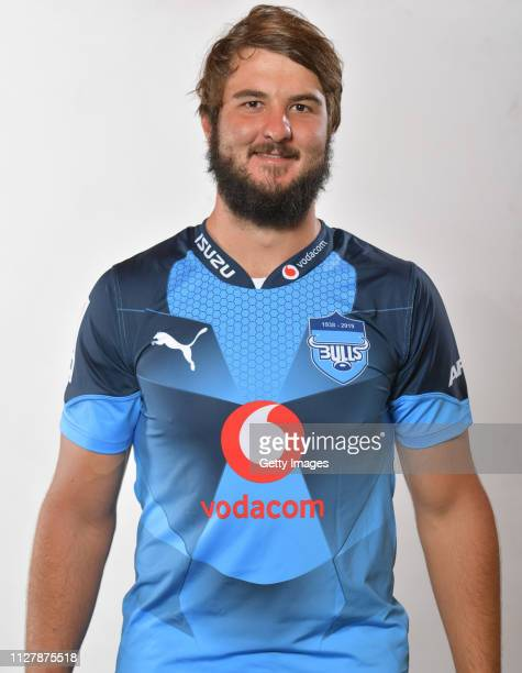 Lood de Jager poses during the Bulls 2019 Super Rugby Headshots Session on February 5 2019 in Pretoria South Africa