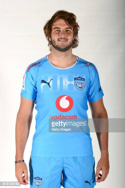 Lood de Jager poses during the Bulls Super Rugby headshots session on December 3 2017 in Pretoria South Africa