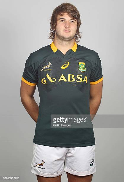 Lood de Jager poses for a photo during the South African national rugby team photocall session on May 31 2014 in Johannesburg South Africa